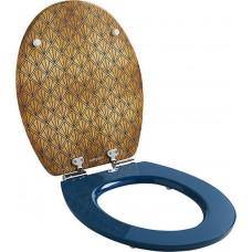 ΚΑΛΥΜΜΑ ΛΕΚΑΝΗΣ  ΞΥΛΙΝΟ Wirquin Diplomat Art Deco Blue