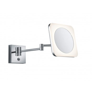 Φωτιστικό και καθρέπτης τοίχου με πρίζα. Χρώμα χρώμιο.VIEW 283090106
