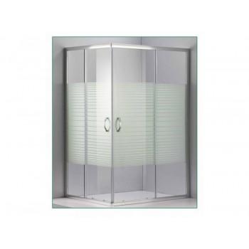 Καμπίνα Ντουζιέρας 100x80x185cm Χρωμέ DORITA (66-3105)