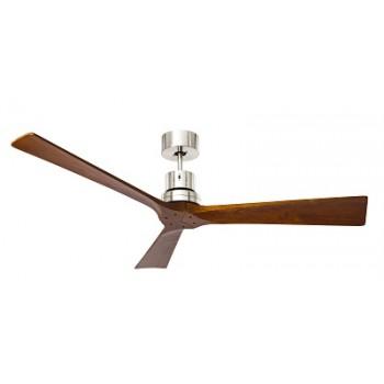 Ανεμιστήρας οροφής από μέταλλο και πτερύγια από φυσικό ξύλο σκούρο.PERENZ  7142CR