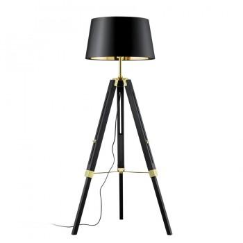 Φωτιστικό Δαπέδου 1Φ Σε Μαύρο Και Χρυσό Χρώμα Trio Lighting Gent 407400179