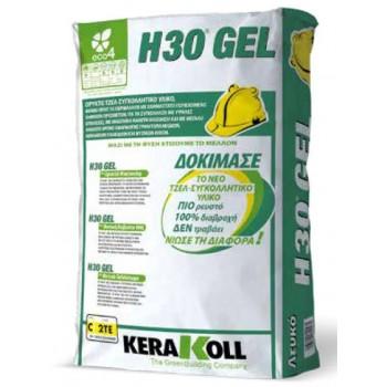Κόλλα πλακιδίων H30 GEL Eco Λευκό 25kg Kerakoll