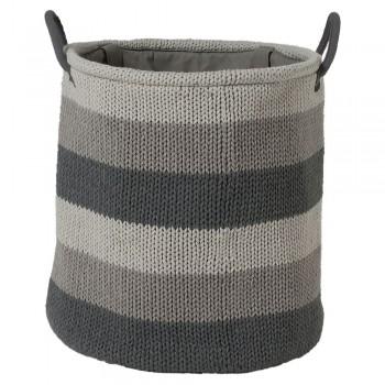 ΚΑΛΑΘΙ ΑΠΛΥΤΩΝ Knitted laundry bag grey 36×38